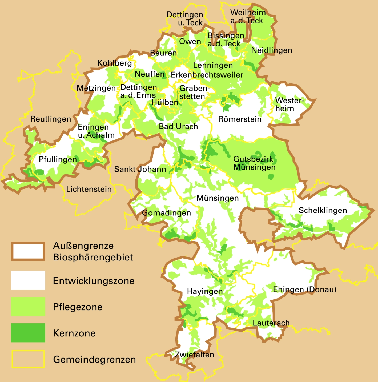 Biosphärengebietskarte