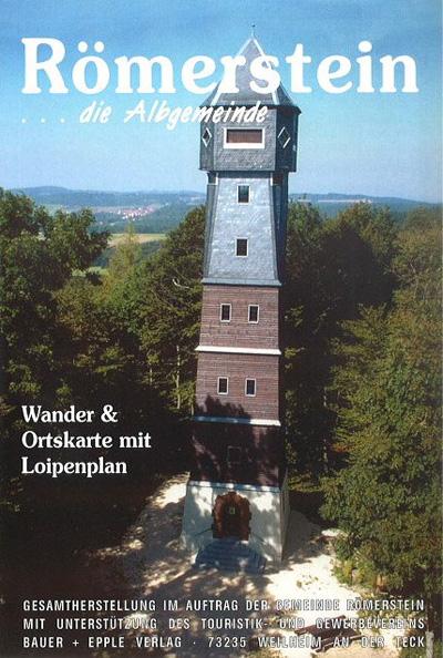 Wander- und Ortskarte der Gemeinde Römerstein