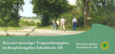 Flyer Reiseziel ehemaliger Truppenübungsplatz Münsingen